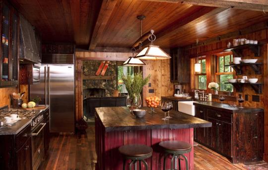Дерев'яний котедж - дизайн, інтер'єр