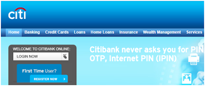 Pay Bill Using Citi Bank Internet Banking Option
