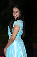 Pujita Ponnada in transparent sky blue dress at Darshakudu pre release ~  Exclusive Celebrities Galleries 088.JPG