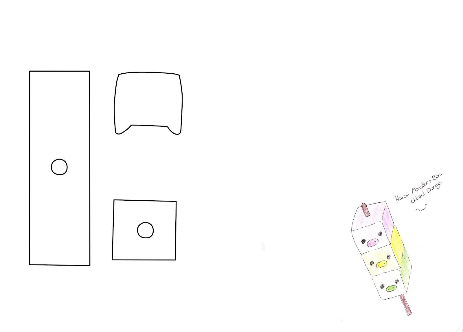 Plush By Tammy: MonoKuro Boo Dango Template