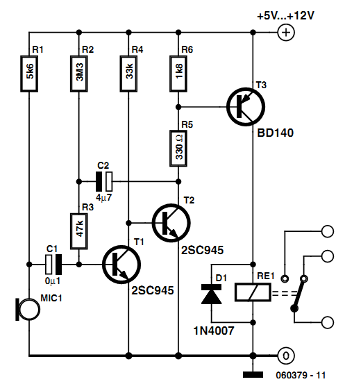 Simple Sound Activated Switch