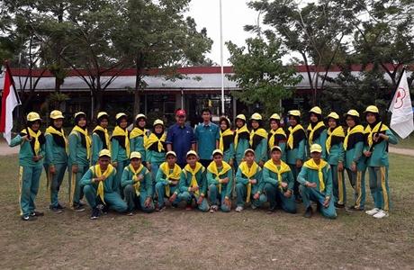 Anggota DPRD Kota Padang Hadiri Pelantikan Anggota Baru PMR Wira SMAN 5 Padang