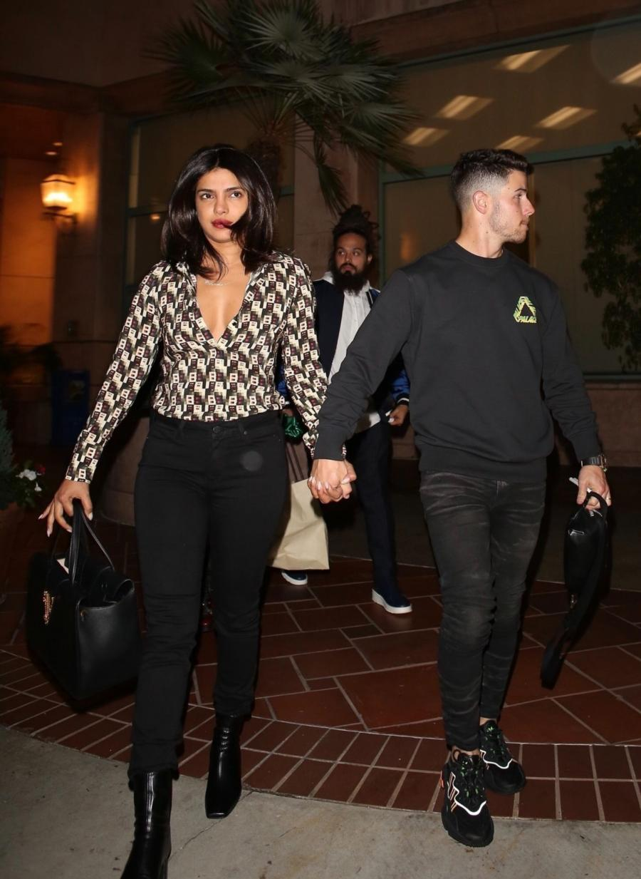 Indian Actress Priyanka Chopra and Nick Jonas in Beverly Hills