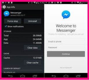 how to logout from Facebook Messenger app on Android