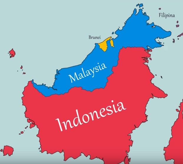kondisi geografis pulau kalimantan berdasarkan peta