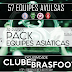 PATCH BRASFOOT: Pack Clubes Ásia 2017 / 32 Países