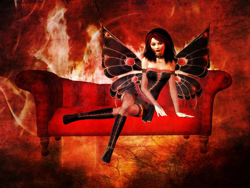 sexy gothic fairy wallpaper - photo #33