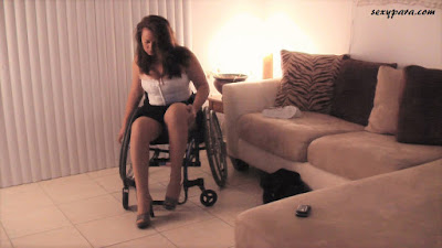 sexy para wheelchair model fetish queen disabled model disability fetish