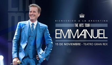 EMMANUEL regresa a la Argentina