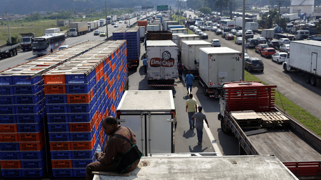 Brasil: Temer moviliza a las fuerzas federales de seguridad para poner fin a la huelga de camioneros