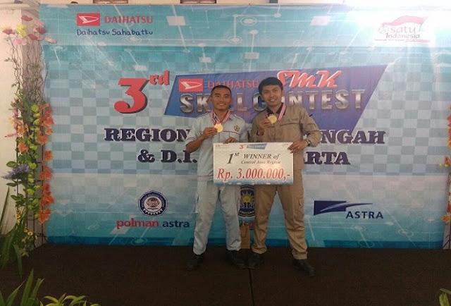 Juara Lomba Daihatsu Skill Contest Tingkat Jateng dan DIY Didominasi SMK Muhammadiyah Kutowinangun