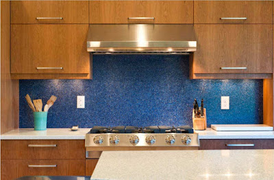 kitchen backsplash ideas and design trends 2019, blue backsplash