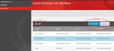 Sitecore QuartzScheduler - Manage Jobs