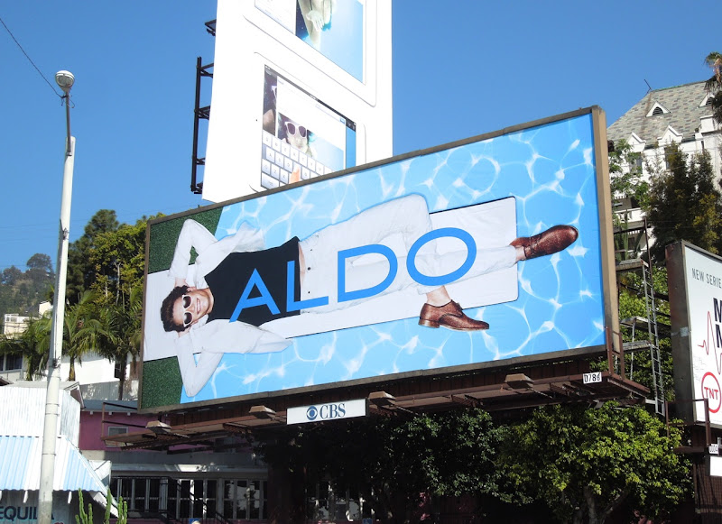 Aldo Shoes diving board billboard