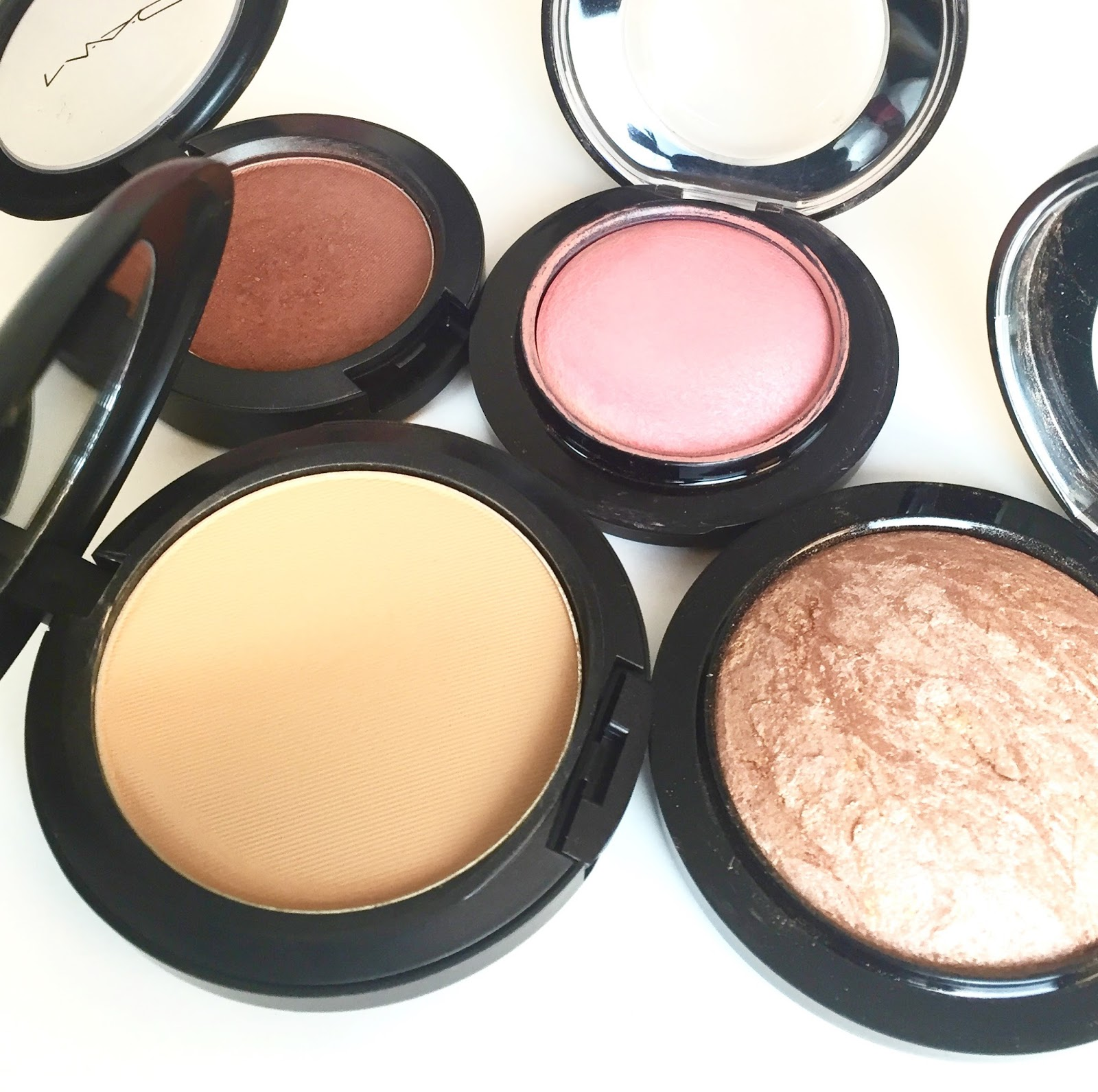 So to set my foundation, I use the Mac Studio Fix Powder + Foundation, this is in the shade NC43. This powder has full coverage and leaves me with a smooth ...