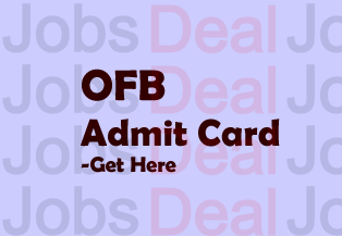 OFB Trade Apprentice Admit Card 2017