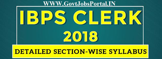 ibps clerk syllabus 2018