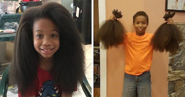 8χρονος μάκραινε τα μαλλιά του για 2 χρόνια για να τα δωρίσει στους καρκινοπαθείς