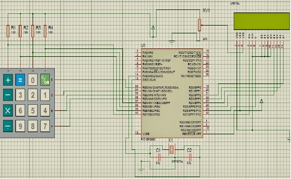 Matrix [4x4] Keypad interfacing with PIC Microcontroller