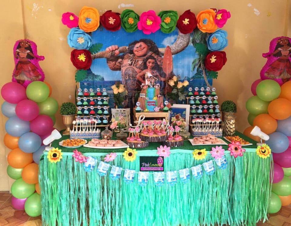 Pink Lemonade Balloons And Party Favors Cebu Moana Themed