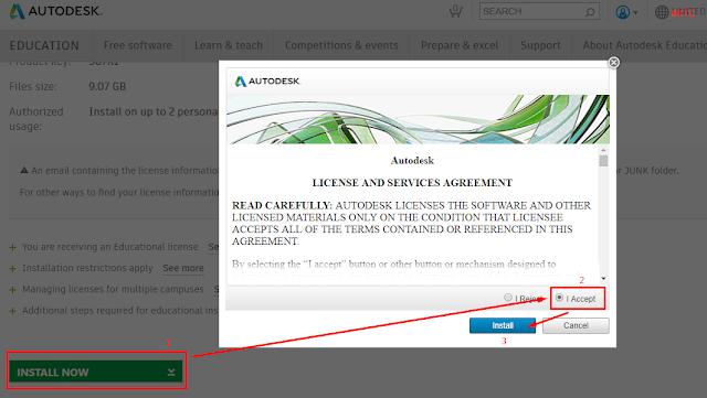 Bước 3: Chọn Install now => I Accept => Install để download bộ cài đặt