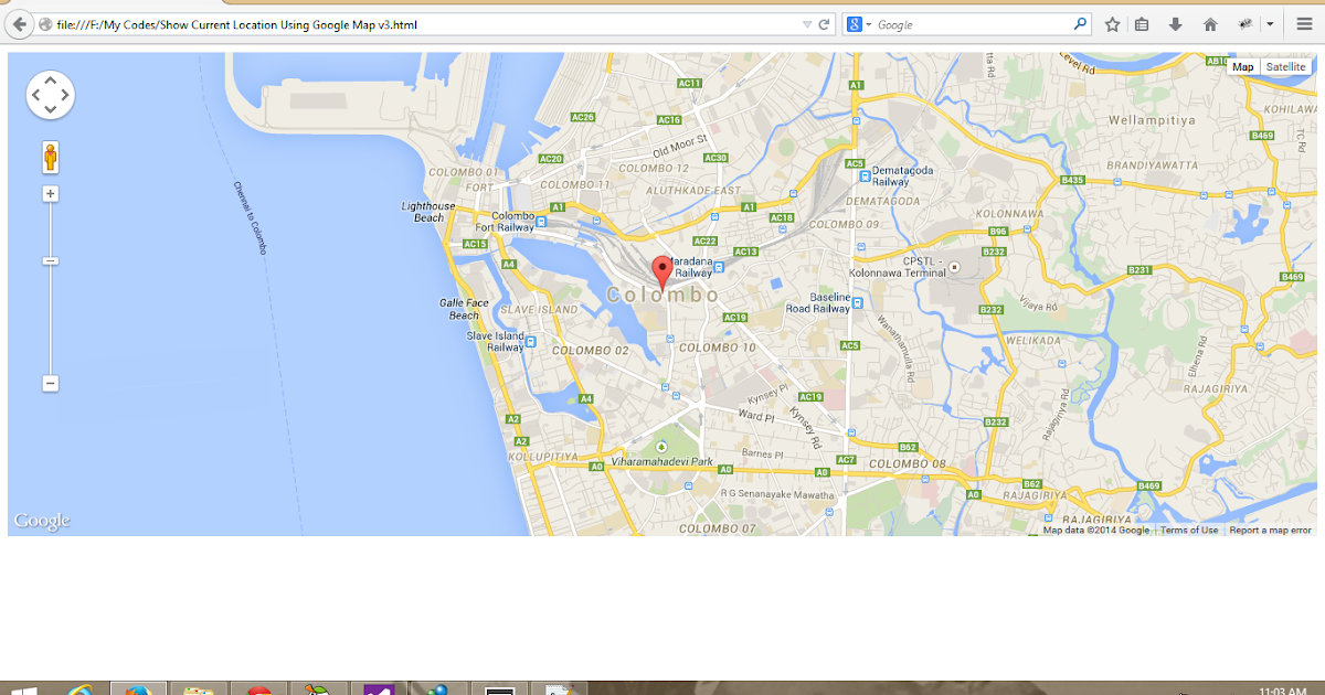 how to add google map location in html