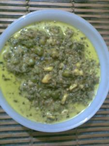 low fat methi matar malai recipe