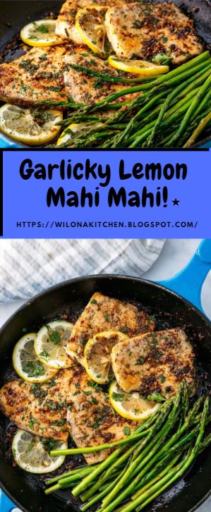 Garlicky Lemon Mahi Mahi