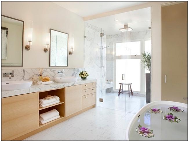Concevoir votre salle de bains en marbre d cor de maison - Concevoir salle de bain ...