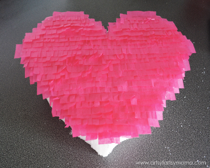 Faux Valentine Piñata Tutorial at artsyfartsymama.com #MakeItFunCrafts