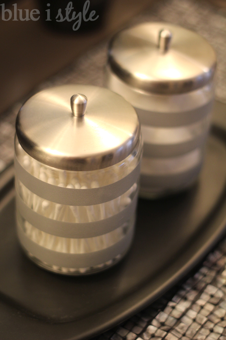 Washi Tape updates glass canisters