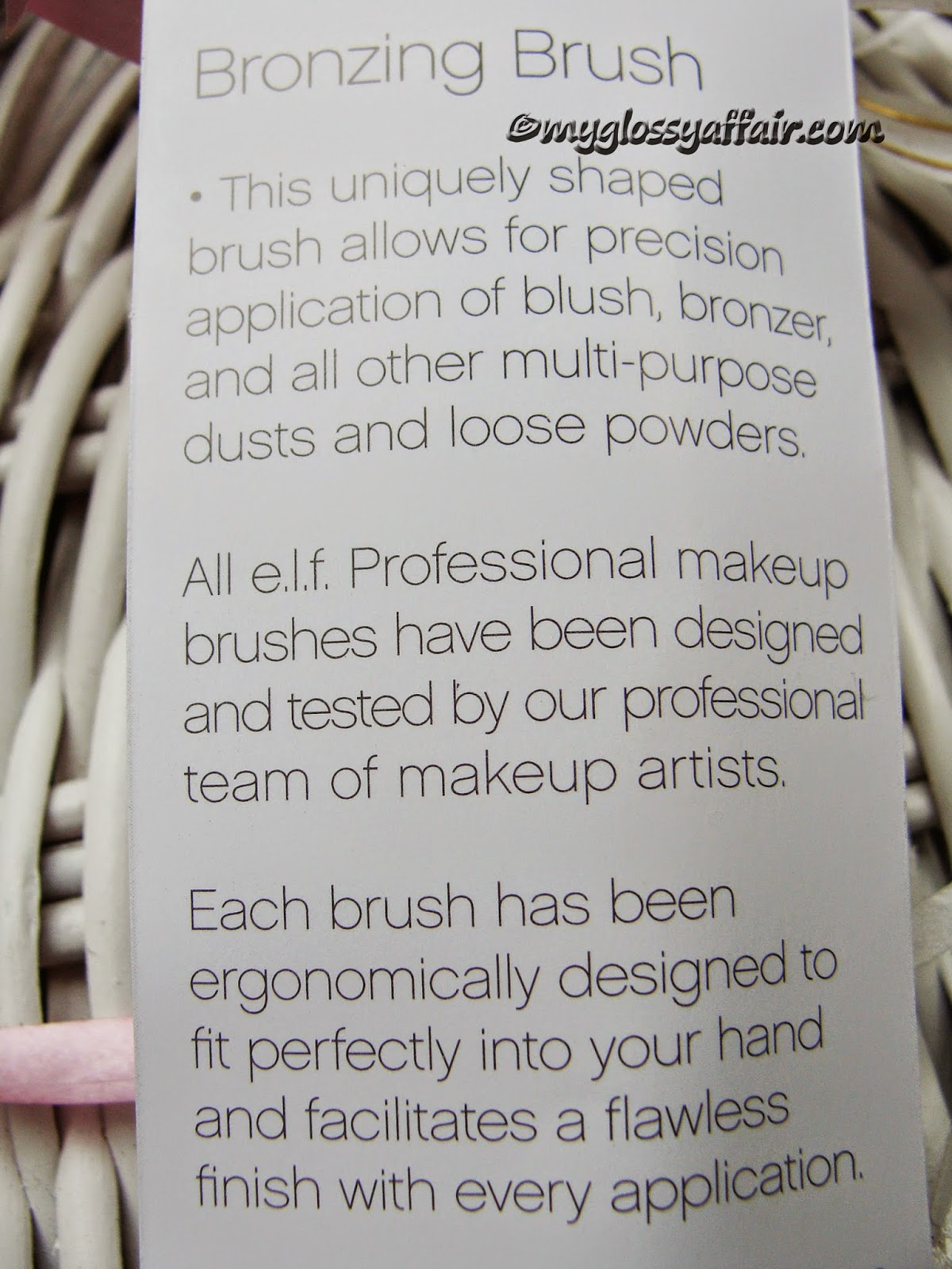 Elf Professional Bronzing Brush Review