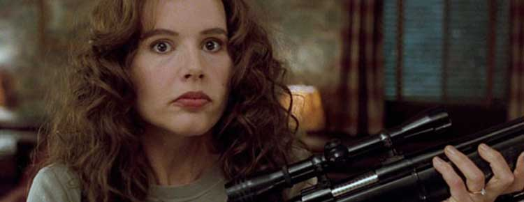 Geena Davis wakes up a forgotten past in The Long Kiss Goodnight.