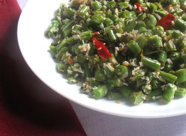 South Indian Green Bean Poriyal