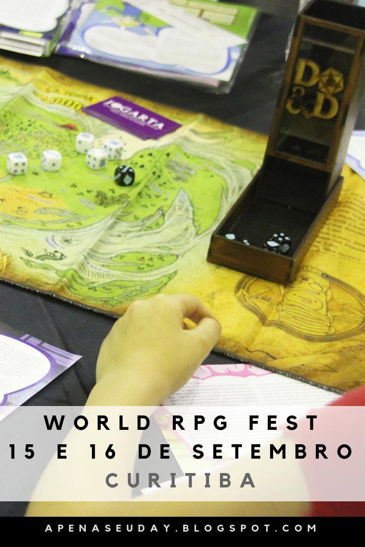 Evento World RPG Fest em Curitiba, evento internacional de RPG com várias novidades e atrações. Acesse agora!