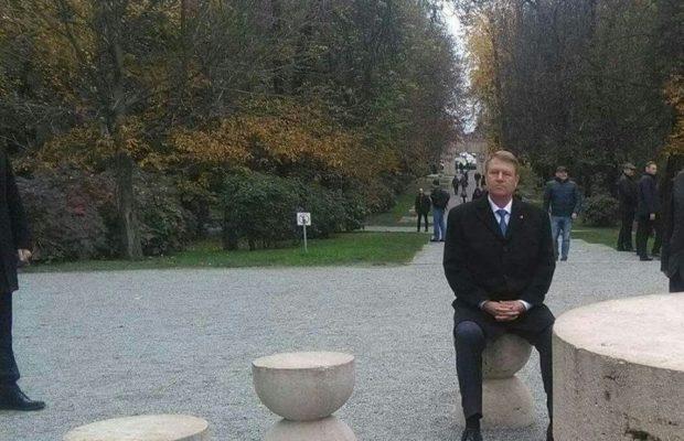 Klaus Iohannis la Masa Tăcerii
