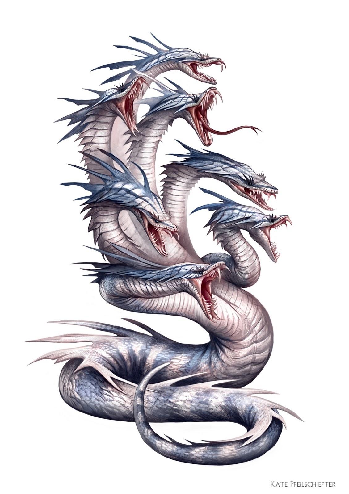 Dragon From Greek Mythology: Graphite Dragons: Paizo: Reign Of Winter