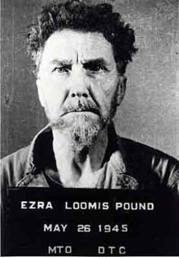 Mug shot of Ezra Pound after his surrender to the U.S. Military in northwestern Italy (May 26, 1945)