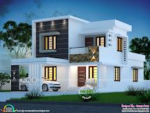 1800 Sq-ft 4 Bedroom Modern House Plan Kerala Home