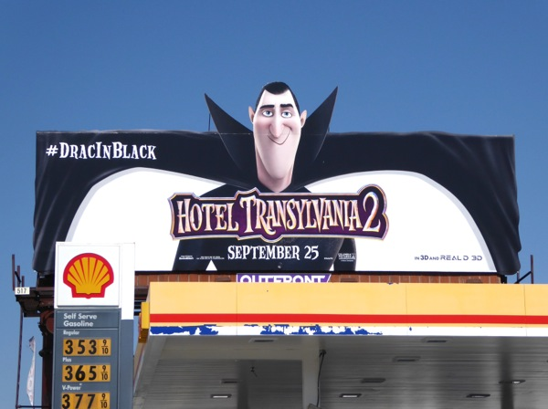 Hotel Transylvania 2 Dracula movie billboard