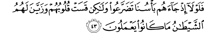 Surat Al-An'am Ayat 43