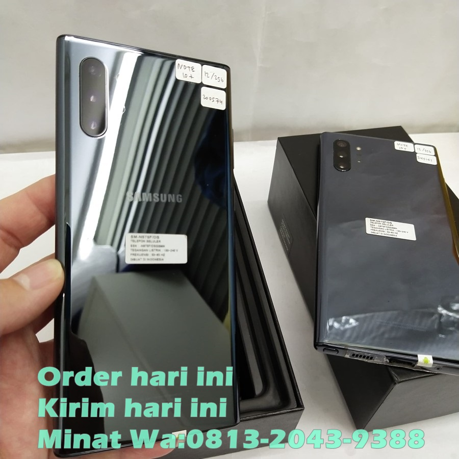 JUAL SAMSUNG GALAXY NOTE 10 PLUS BLACK MARKET ORIGINAL