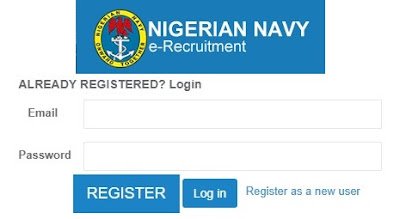 Nigerian Navy Register & Login Account | Apply @ www.joinnigerianavy:com