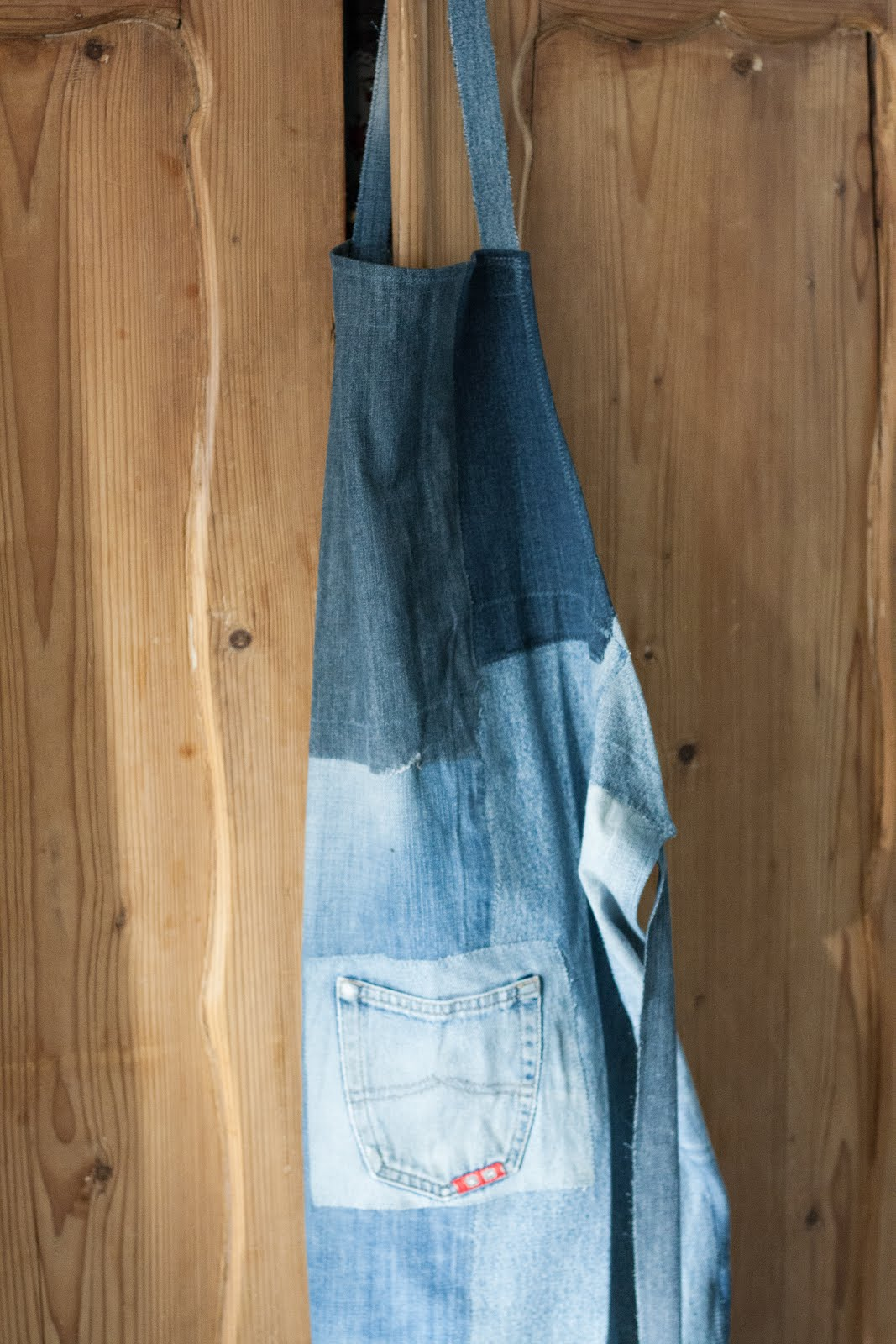 Denim schort