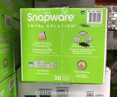 Snapware 38-piece Plastic Food Storage Set: practical for everyday use