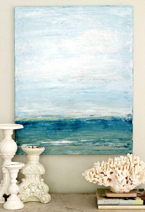 DIY Ocean Painting