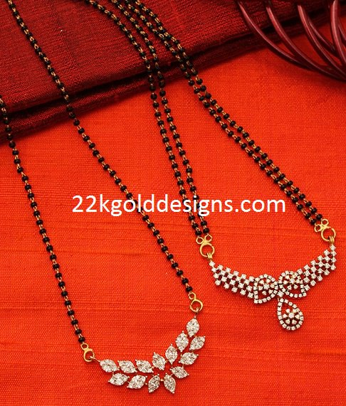 Short Diamond Mangalsutra Designs