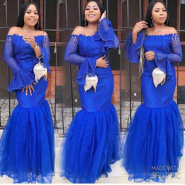 Latest Lace Gown Styles for Ladies - DeZango Fashion Zone