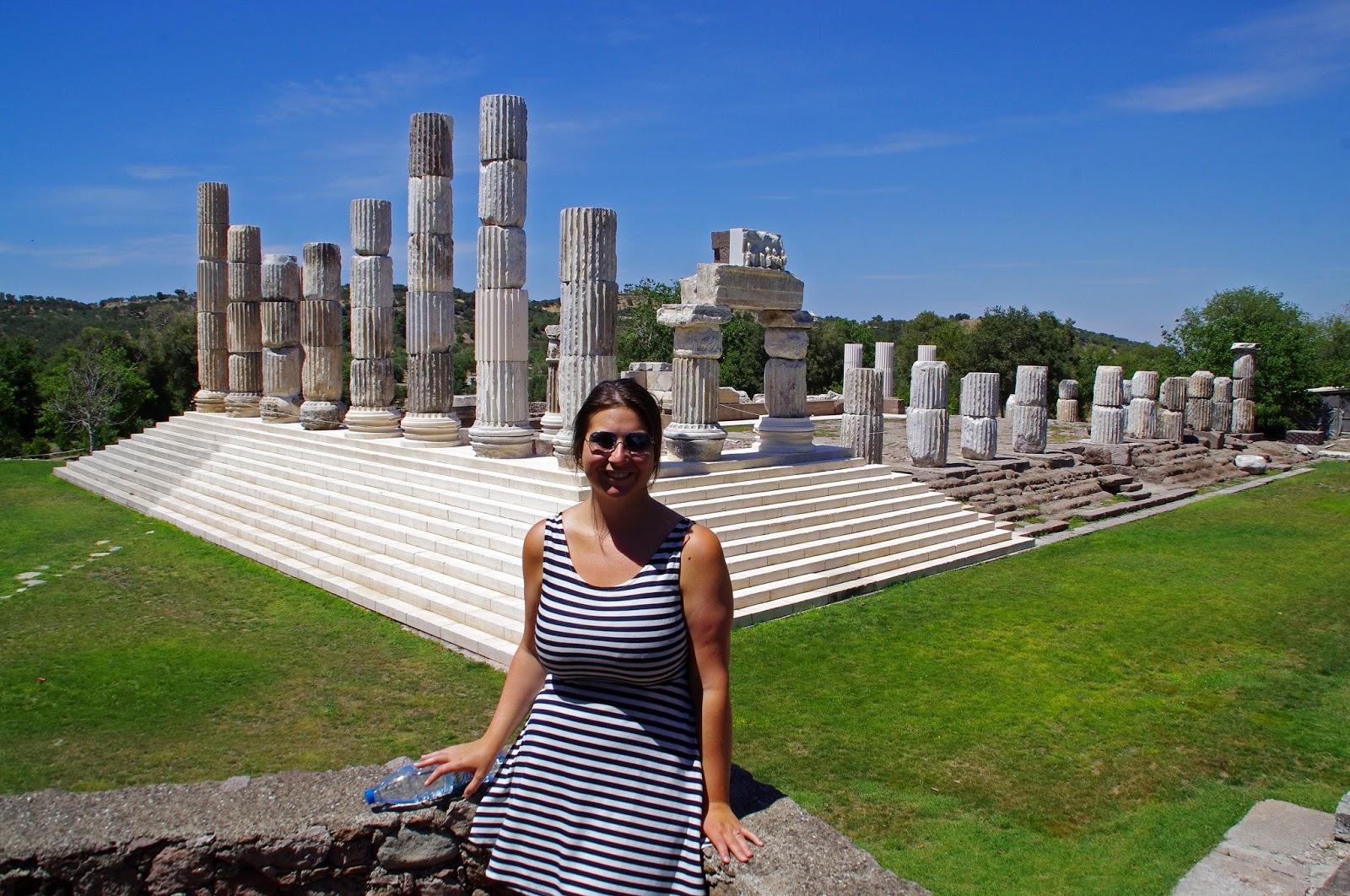 Simone at Apollon Symintheion ruins
