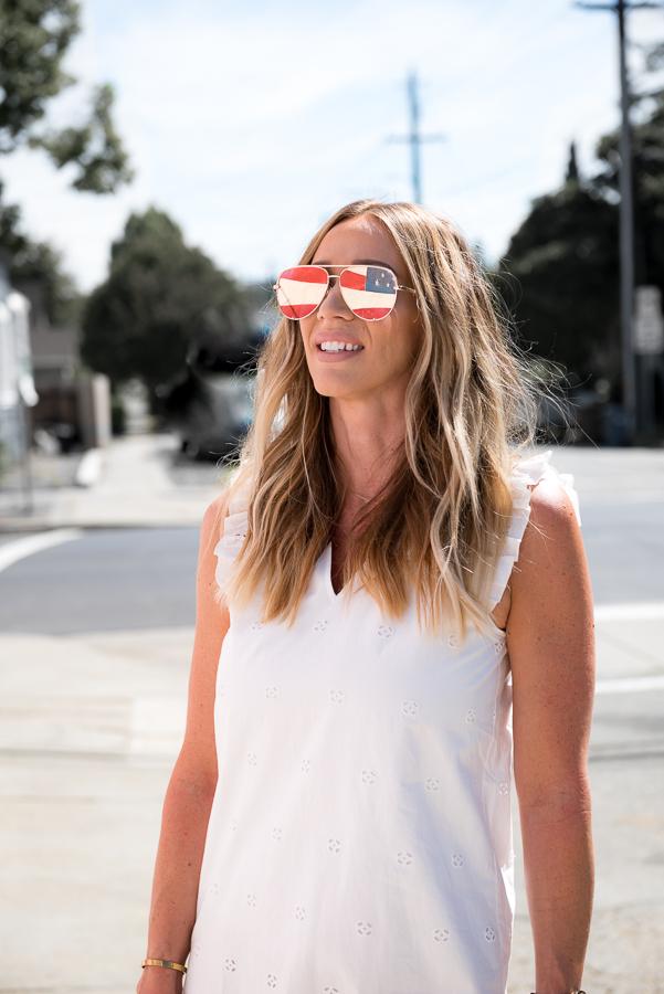 flag reflection sunglasses parlor girl